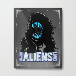 Attack The Block Alien Metal Print
