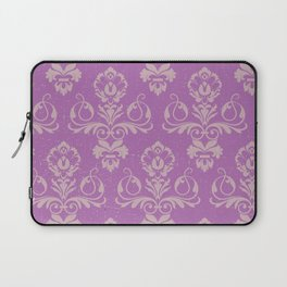 Purple Damask Laptop Sleeve