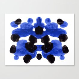 Periwinkle Purple Blue And Black Ink Blot Diagram Canvas Print