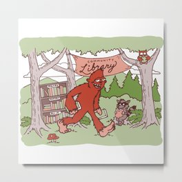 Community Library (Sasquatch) Metal Print