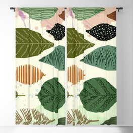 Automn leaves motif Blackout Curtain