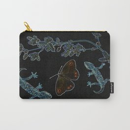 Butterfly With Geckos Carry-All Pouch