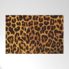 Glitter Leopard Print Welcome Mat