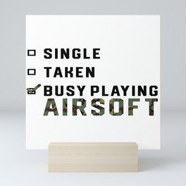 Single Relationship Airsoft Airsoft BBs Gift Mini Art Print