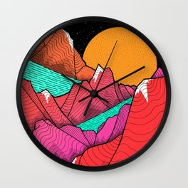 The islands and the sea Wall Clock