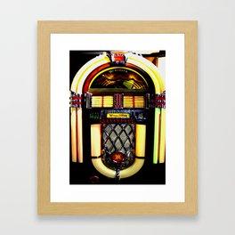 Wurlitzer Jukebox  Framed Art Print