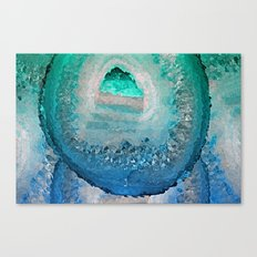 AGATE IN BLUE DREAMS Canvas Print
