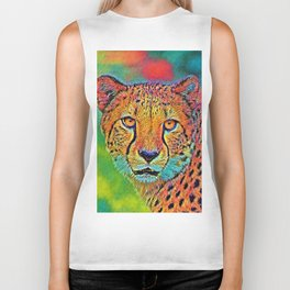 AnimalColor_Cheetah_001 Biker Tank
