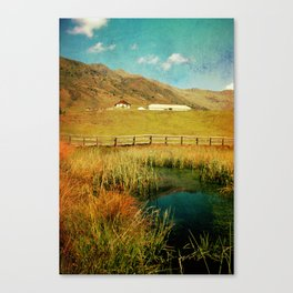 Alpe Nemes in South Tyrol Canvas Print