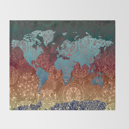 70x54 old world map globe tapestry afghan throw blanket vintage old vintage map of the world gumiabroncs Gallery