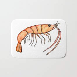 Prawn: Fish of Portugal Bath Mat