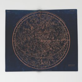 Constellations of the Northern Hemisphere Throw Blanket