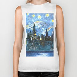 Starry Night(Hogwarts Castle) Biker Tank