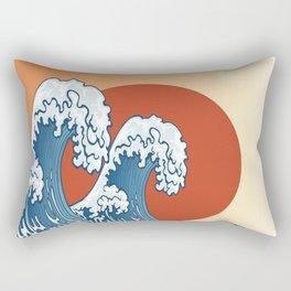 The Great Wave off Kanagawa, Japanese Wall Art, Asian Art Print, Wave Print, Wave Oriental Wall Art Rectangular Pillow