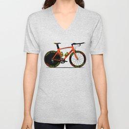 Time Trial Bike Unisex V-Neck