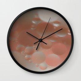 Peaches and Cream Wall Clock