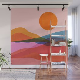 Abstraction_OCEAN_Beach_Minimalism_001 Wall Mural
