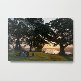 Sunset on Sydney Harbour, Observatory Hill Park, Sydney Metal Print