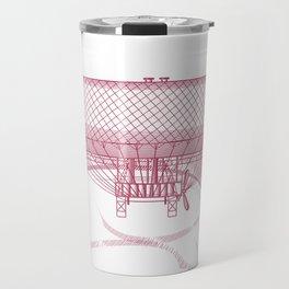 Airship 2, vector engraving Travel Mug