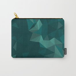 Green Polygon Carry-All Pouch