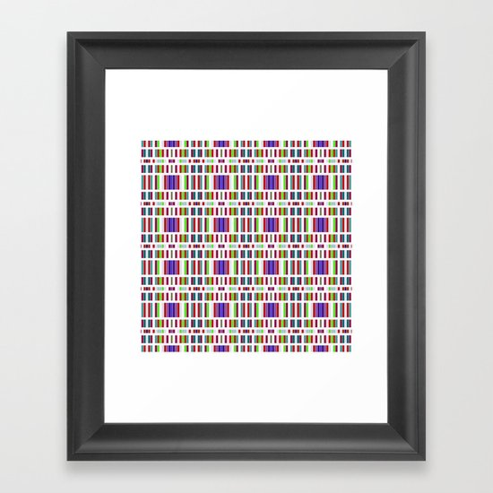 Retro Bar Pattern Framed Art Print