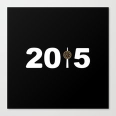 2015-NY-Black Canvas Print