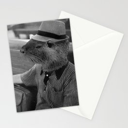 Nutria Man and the Train to Nowhere Stationery Cards
