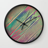 woody Wall Clocks featuring Woody by SensualPatterns