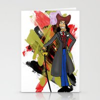 captain hook Stationery Cards featuring Disneyland Captain Hook - Evil Relations by Joey Noble