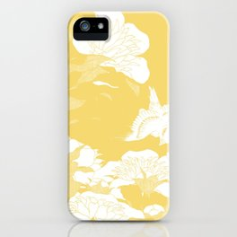 japanese flowers. Yellow iPhone Case