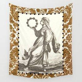 Tambourine Girl Wall Tapestry
