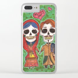 Te Amo Day of the Dead Clear iPhone Case