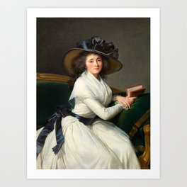 Elisabeth Louise Vigée Le Brun - Comtesse de la Châtre Art Print