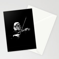 Dark Violinist Warrior Stationery Cards