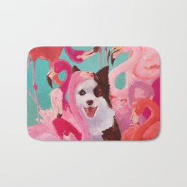 Flamingo party Bath Mat