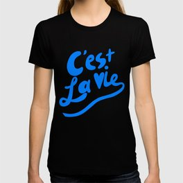 C'est La Vie art print, typography art print, quote art print T-shirt