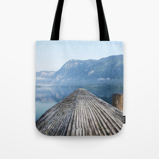 Dock # mountains #nature Tote Bag