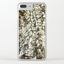 Snowy Trees Photography Print Clear iPhone Case