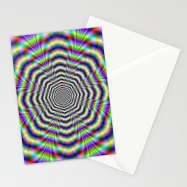 Psychedelic Octagon Pulse Stationery Cards