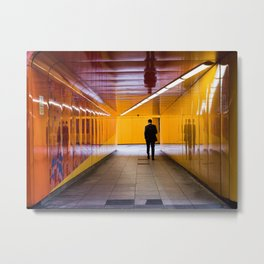 London Geometric Yellow & Orange Color Photography Metal Print