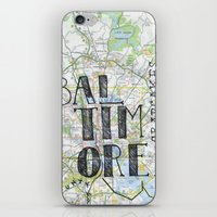 baltimore iPhone & iPod Skins featuring Baltimore by bonjourfrances