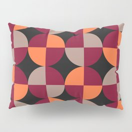 WineRed Squares Pillow Sham