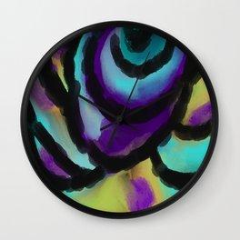 Wild Rose Abstract Digital Painting Wall Clock