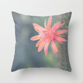 Little Cactus Flower Throw Pillow