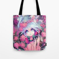 barachan Tote Bags featuring boundless by barachan