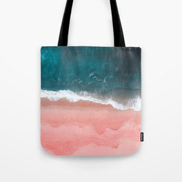 Turquoise Sea Pastel Beach III Tote Bag