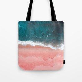 Turquoise Sea Pastel Beach III Tote Bag
