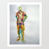 sport Art Prints featuring Sport by Leyla Kiran