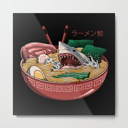 Ramen Shark Metal Print