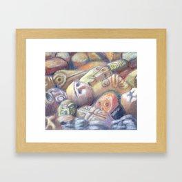 Rix Ciba Kansi - Red Sweatlodge Rocks Framed Art Print